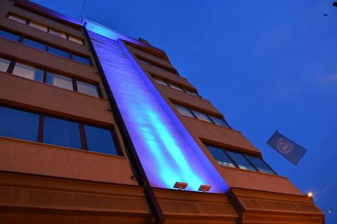 UNICEF Office in Skopje lights up blue for World Children's Day