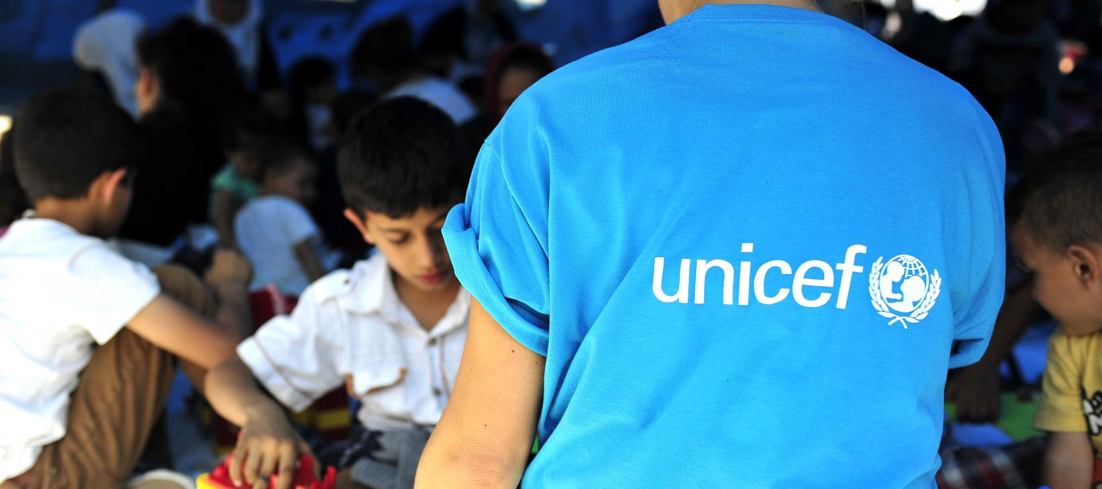 UNICEF employee on a filed assignment near the border with Greece, during the refugee and migrant crisis in 2015