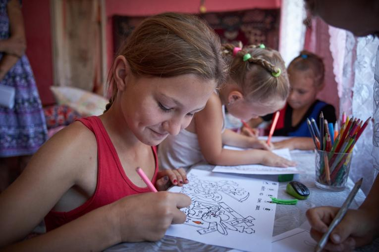 Girls drawing