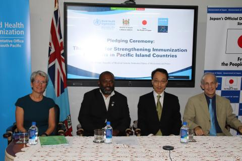 Pledging Ceremony for 'The Project for Strengthening Immunization Programs in Pacific Island Countries' held in Fiji.