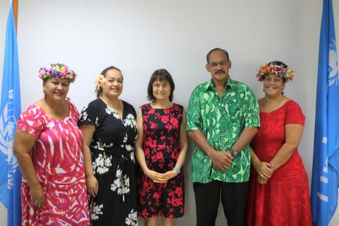 Cook Islands government delegation participated in a mock session on the Convention on the Rights of the Child at the UNICEF Pacific office on 17 February 2020, in preparation for the 84th Extraordinary Session of the Committee on the Rights of the Child in Apia, Samoa.