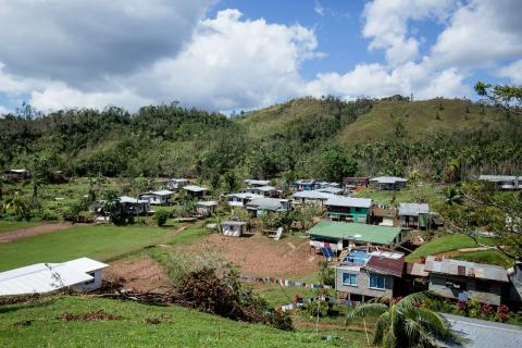 Dawara Village in Savusavu, few days after severe tropical cyclone Yasa.
