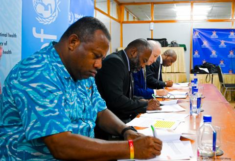 UNICEF and WHO, together with the Fiji National Disaster Management Office  and the Fiji Ministry of Health and Medical Services signed a commitment calling for an increase in protection, promotion and support for breastfeeding during emergencies.