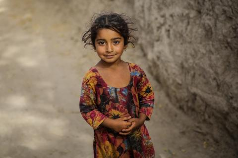 A young girl from Punjab poses for a photograph