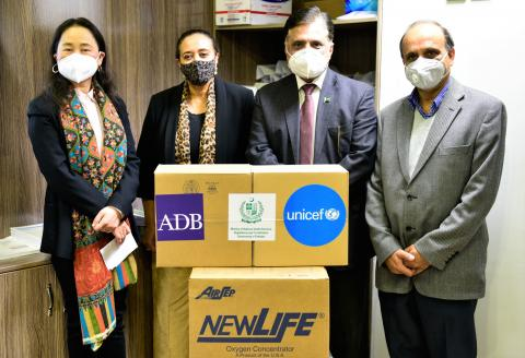 ADB funded oxygen concentreators handed over by UNICEF to Government
