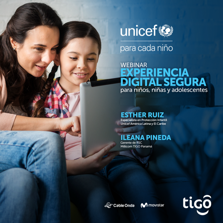 WEBINAR  POR CABLE ONDA, MOVISTAR Y UNICEF