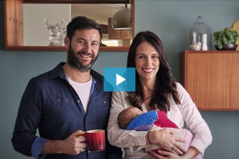 UNICEF Parenting: Clarke Gayford and New Zealand Prime Minister Jacinda Ardern with their baby Neve