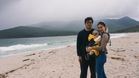 UNICEF Goodwill Ambassador Anne Curtis and her family