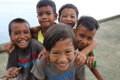 Children of the coastal community of Bgy. Cabcab, San Andres, Catanduanes