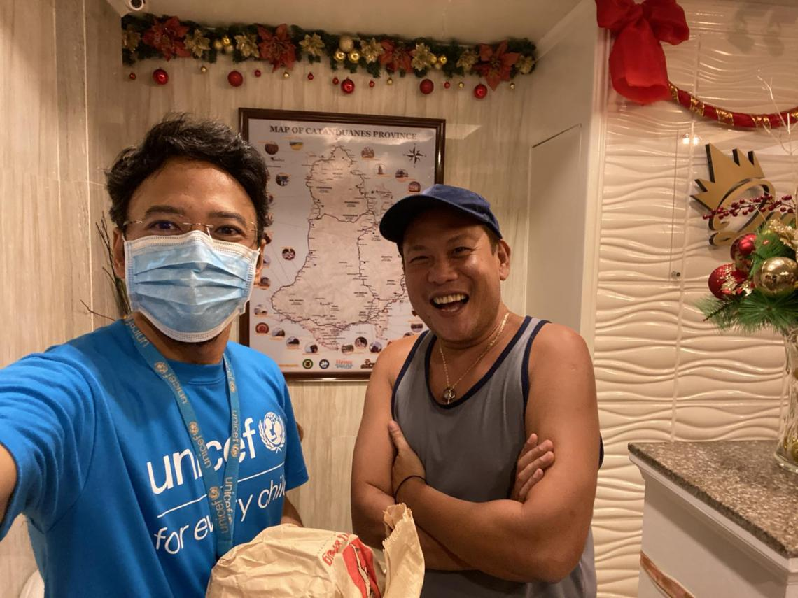 Geo visited our UNICEF colleague Pete from Catanduanes