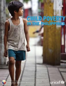 "Cover for the report ""Child Poverty in the Philippins"""