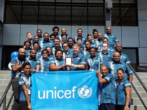 UNICEF staff group photo