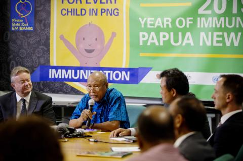 PNG Health Minister declares 2019 Year of Immunisation
