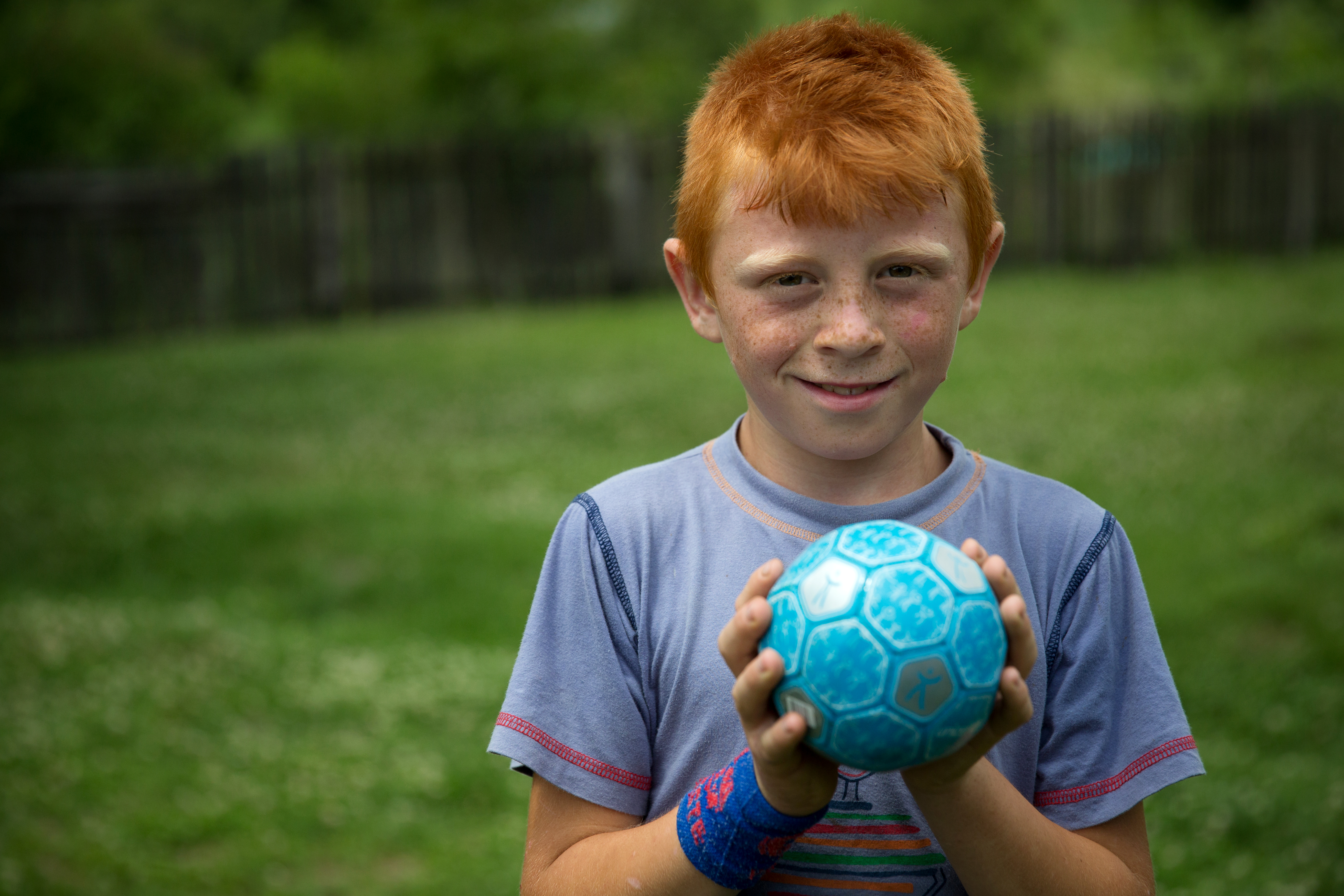 Boy with an UNICEF ball