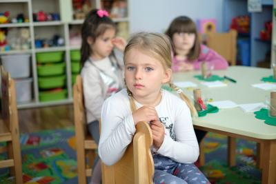 A girl attending a kindergarten supported through UNICEF Quality Inclusive Education Package