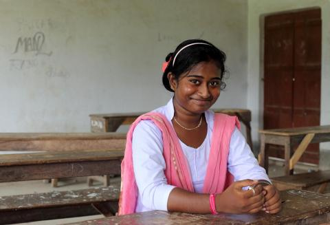 17-year old Rima Bera is high-spirited enough to face threats from her community members for reporting and preventing child marriages. She talks about how she will continue with her good work and efforts, Namgarh High School, Tarakeshwar, Hoogly, West Bengal, India