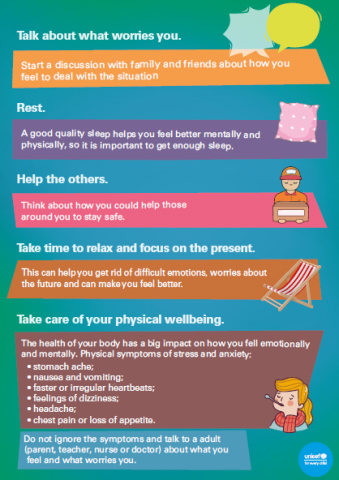 Poster on how to deal with anxiety before exams