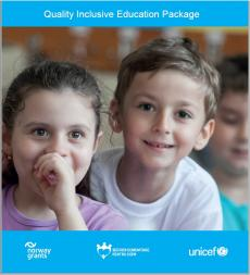 Cover of the Quality Inclusive Education Package Leaflet