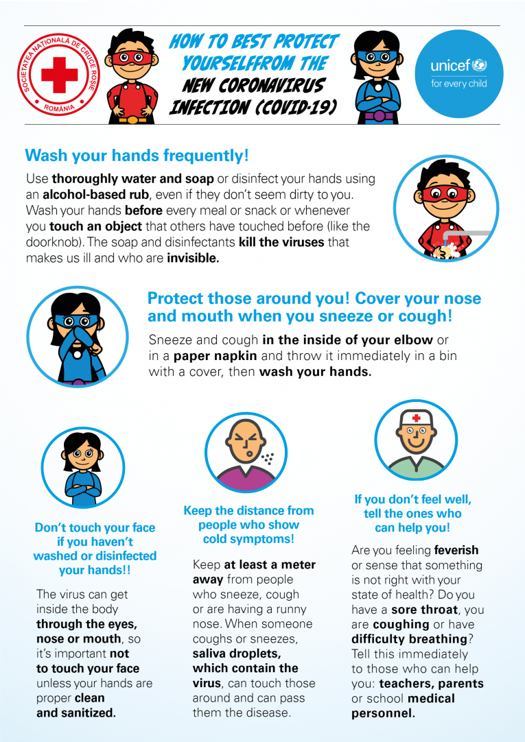Poster on how to protect yourself from COVID-19