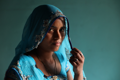 A Child bride in India