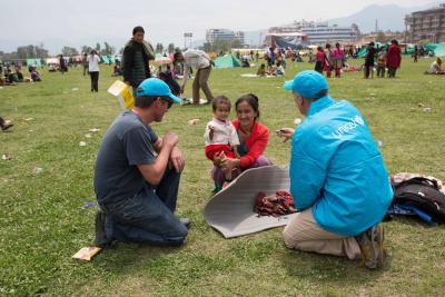 UNICEF staff helping victims of Nepal EQ
