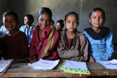 students in rural areas in the classroom