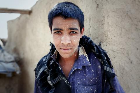 A boy in Afghanistan