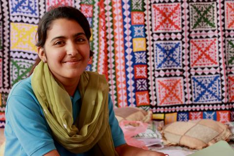 Memoona Naz (17) is a UNICEF Adolescent Champion  in her village Arab Machi, Khairpur District, Sindh.