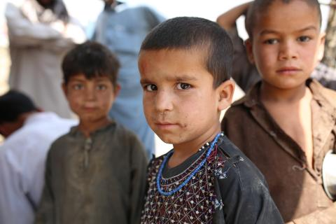 Afghanistan, Kabul: Boy who lives in a camp for internally displaced people. They are originally from Helmand Province, but were forced to leave because of ongoing fighting.