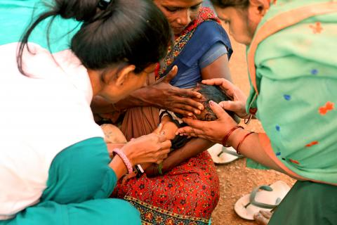 measles vaccinations in India