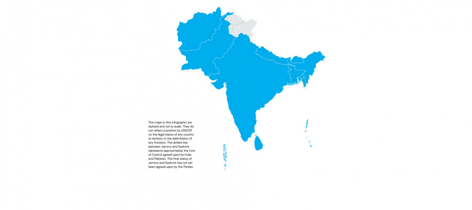 South Of Asia Map.Where We Work Unicef South Asia