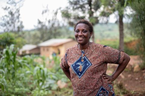 "Yvonne is one of Rwanda's 29,674 UNICEF-supported ""Friends of the Family"" child protection volunteers."