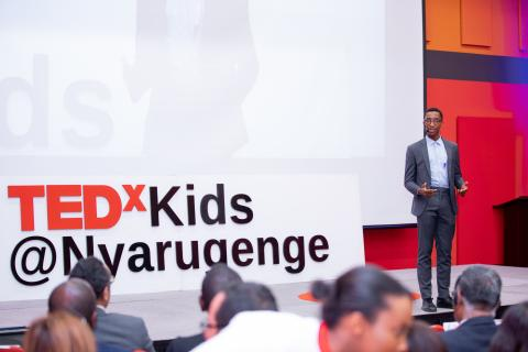 Israel, 17, was one of two Masters of Ceremony who led UNICEF's TEDxKids event celebrating World Children's Day and the 30th anniversary of the Convention on the Rights of the Child.