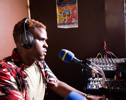 Local and national journalists are contracted by Radio Isano to disseminate crucial Ebola prevention advice over the airwaves in Rwanda..