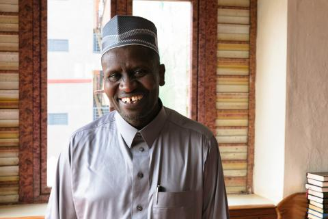 Imam Mashaka Ally, 53, has been leading prayers at his mosque for two years. He uses his influence as an Islamic leader to integrate Ebola prevention messages into his prayers and sermons.