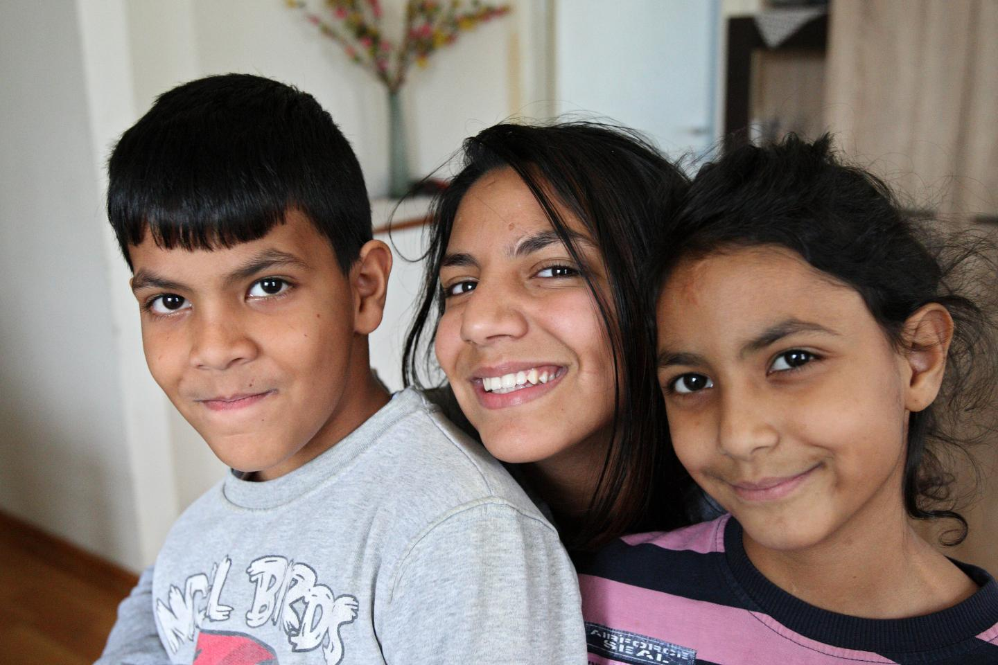 Roma children smiling