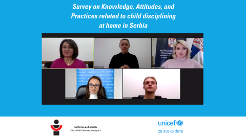 ONLINE LAUNCH OF THE SURVEY ON KNOWLEDGE, ATTITUDES AND PRACTICES OF DISCIPLINING CHILDREN AT HOME