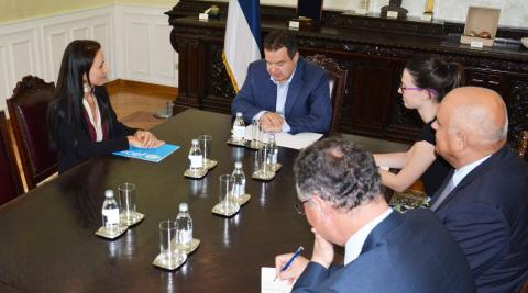 Regina De Dominicis in a visit to Minister Dacic