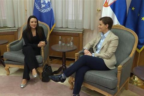 Ana Brnabic and Regina De Dominicis