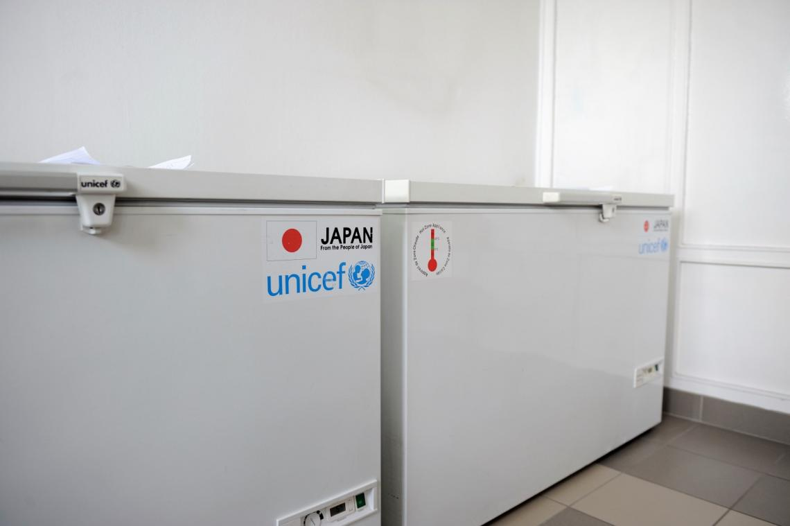 Two of the six refrigerators donated to the Vozdovac Primary Health Centre.