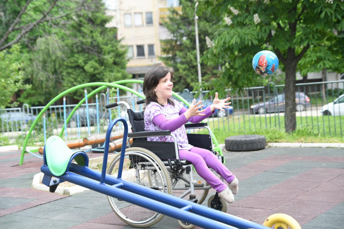 Stanislava, 15, lives in a small group home for children with disabilities in Montana, Bulgaria, after spending years in state institutions for children.
