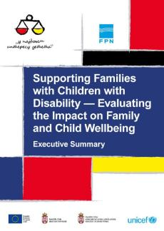 Supporting families publication cover