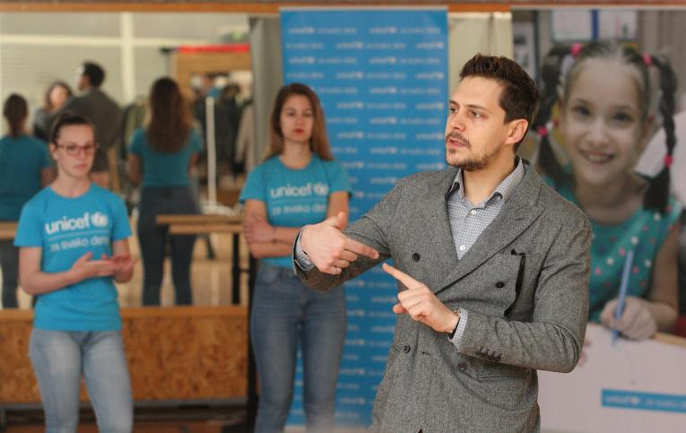 Milos Bikovic Met With UNICEF Facers
