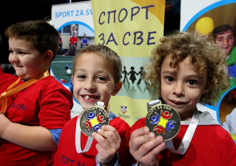 Children with medals