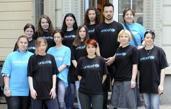 UNICEF volunteers
