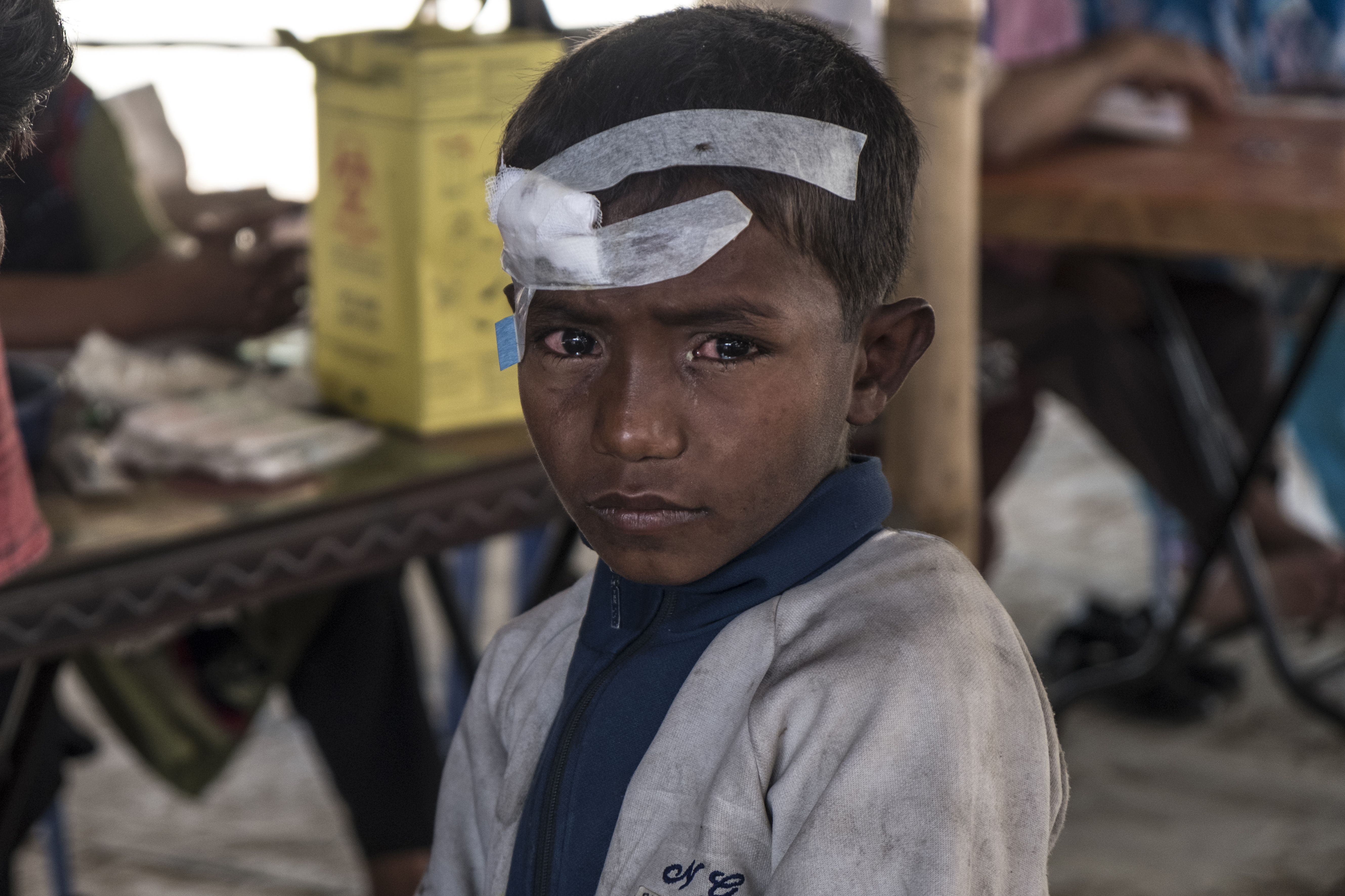 Un réfugié rohingya au Bangladesh