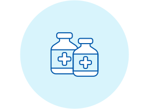 Icon of medicine bottles