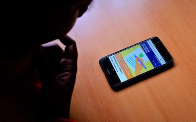 UNICEF's Internet of Good Things being used on a mobile device