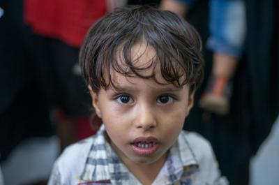 Yemen. A boy looks at the camera.
