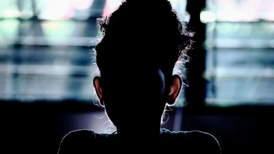 Silhouette of a girl, El Salvador